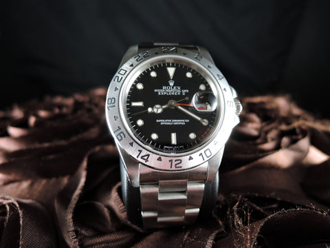 1994 Rolex EXPLORER 2 16570 Black Dial with Box and Papers