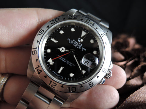 1998 Rolex EXPLORER 2 16570 Black Dial with Box and Paper