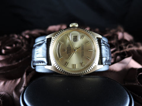 1970 Rolex DAY-DATE 1803 18K Gold with Original Gold Wide Boy Dial