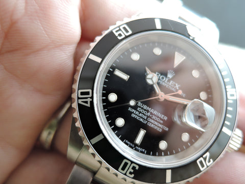 2007 Rolex SUBMARINER 16610 Black Dial Black Bezel in Mint Condition