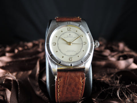 1946 Rolex BUBBLEBACK 3372 with Original Dial and SHORT Second Hand
