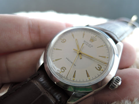 1966 Rolex OYSTER 6426 with Creamy 2-Tone Explorer Dial with Gold Prints