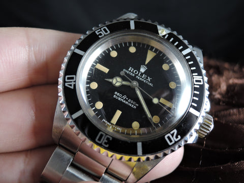 1969 SUBMARINER 5513 Non-Serif Matt Dial Dome Crystal Nice Patina