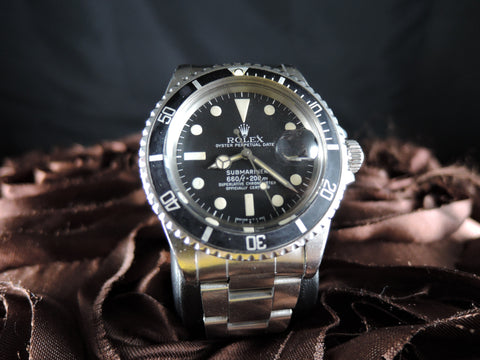 1978 Rolex SUBMARINER 1680 Matt Dial with Nice Patina and Solid Oyster Band