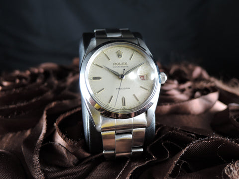 1944 Rolex OYSTER DATE 6494 Original Creamy Dial with Dauphine Hands