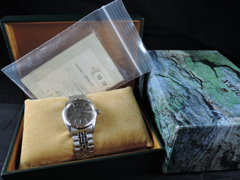 1967 Rolex DATEJUST 1601 SS ORIGINAL Brown Tapestry SIGMA Dial with Box and Paper