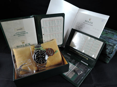 1988 Rolex SEA DWELLER 16660 (Triple 6) T25 Dial Full Set RARE MODEL