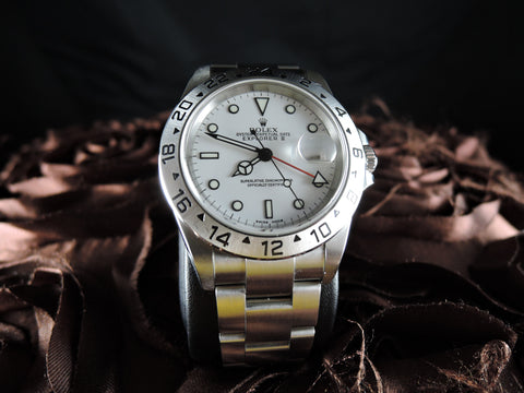 2005 Rolex EXPLORER 2 16570 White Dial Mint Condition (No Hole Case)