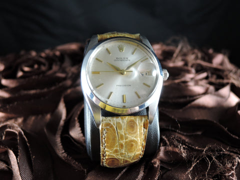 1959 Rolex OYSTER DATE 6694 Original Silver Dial with Gold Markers and Dauphine Hands