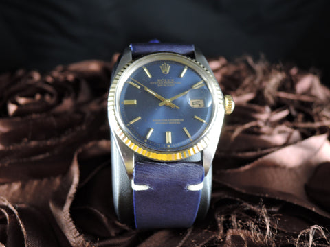 1966 Rolex DATEJUST 1601 2-Tone SS/Gold ORIGINAL Blue Dial