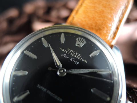 1951 Rolex AIR KING 5500 Super Precision with Original Gilt Black and Silver Printing
