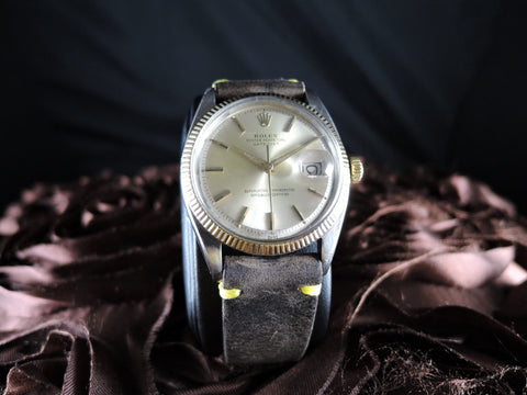 1949 Rolex DATEJUST 1601 2-Tone ORIGINAL Silver Dial with Dauphine Hands