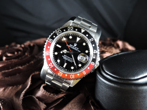 1998 Rolex GMT MASTER 2 16710 Coke Red/Black Bezel