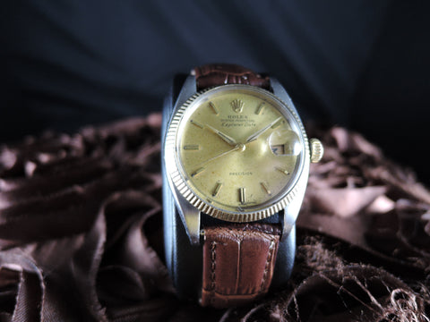 1960 Rolex AIR KING EXPLORER DATE 5701 Original Gold Dial RARE