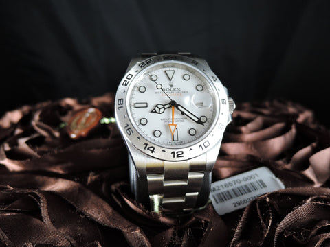 [NEW] Rolex EXPLORER 2 216570 White Dial Orange Hand Full Set