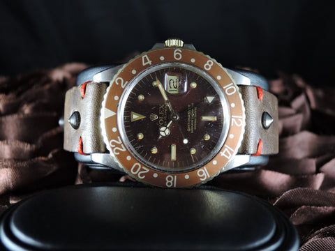 1978 Rolex GMT MASTER 2-Tone 1675 Brownish Nipple Dial