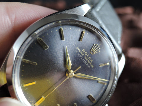 "1960 Rolex AIR KING ""RED"" EXPLORER 5500 Original Grey Dial Super RARE"