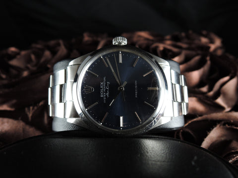 1967 Rolex AIR KING 5500 Blue Dial with Folded Oyster Band
