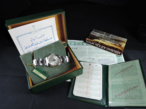 1985 Rolex AIR KING 5500 Original Silver Dial with UAE Logo Full Set