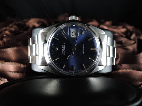 1959 Rolex OYSTER DATE 6694 Glossy Blue Dial with Oyster Band