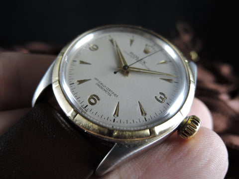 1954 Rolex SEMI BUBBLEBACK 6285 with Explorer Dial and Dauphine Hands