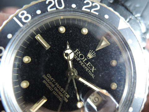 1982 Rolex GMT MASTER 2-Tone 16753 Black Nipple Dial with Grey Bezel