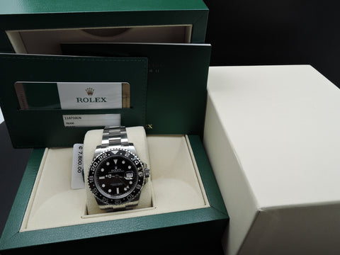[NEW] Rolex GMT-MASTER 2 116710LN Stainless Steel Ceramic Bezel Full Set