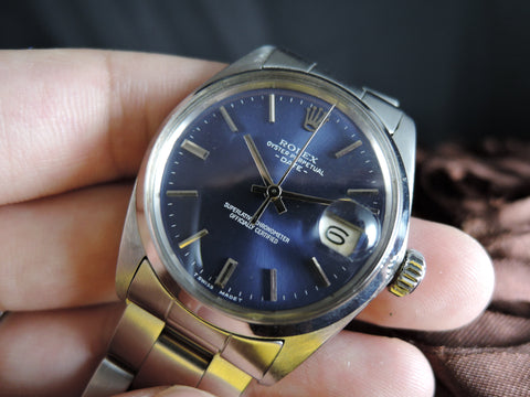 1966 Rolex OYSTER DATE 1500 Original Blue Dial with Solid Oyster Band