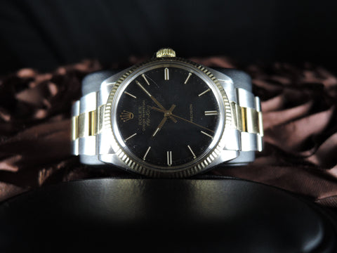 1982 Rolex AIR KING 5501 Original Matt Black Dial with 2-Tone Band