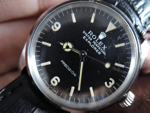 1966 Rolex AIR KING 5500 with ORIGINAL Matt Explorer 3 6 9 Dial