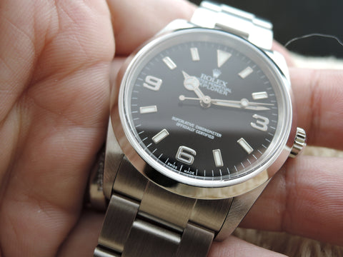 2003 Rolex EXPLORER 1 114270 Black Dial with BOX and Paper