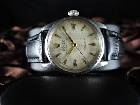 1954 Rolex BUBBLEBACK 6284 with Honeycomb Dial and Dauphine Hands