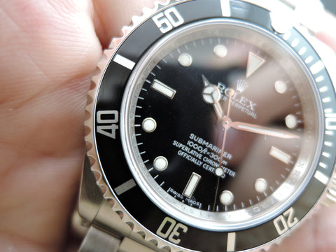 2007 Rolex SUBMARINER 14060M 4 Liners Black Bezel (Inner Ring Serial)