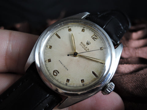 1953 Rolex OYSTER PRECISION 6022 Original Creamy Dial with Leaf Hands