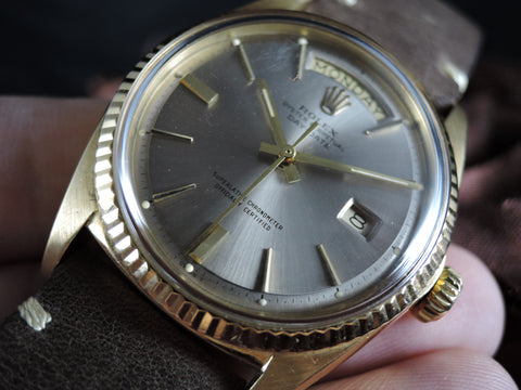 1970 Rolex DAY-DATE 1803 18K Gold with Original Silver Grey Dial