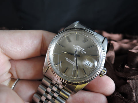 1980 Rolex DATEJUST 16014 Stainless Steel Original Brown Dial