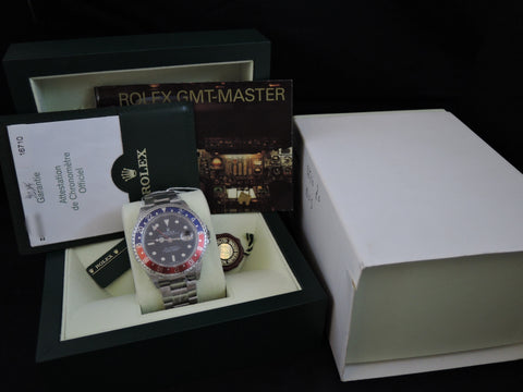 2007 NOS Rolex GMT MASTER 2 16710 Pepsi Red/Blue Bezel Z Serial Full Set