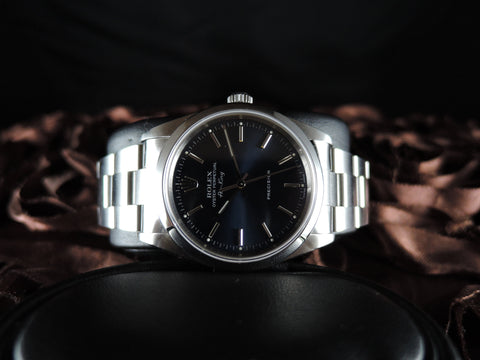 2002 Rolex AIR KING 14000M Original Blue Dial with Box and Paper