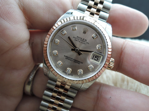 [NEW] Rolex DATEJUST 178271 2-Tone with Rose Gold Diamond Dial