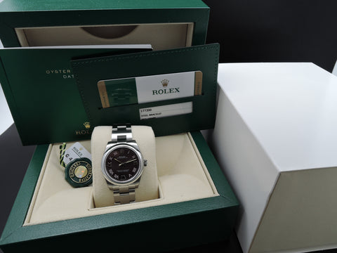 [NEW] Rolex OYSTER PERPETUAL 177200 with Grape Dial Full Set