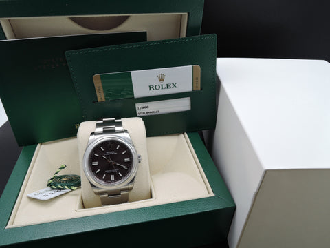 [NEW] Rolex OYSTER PERPETUAL 116000 with Grape Dial Full Set