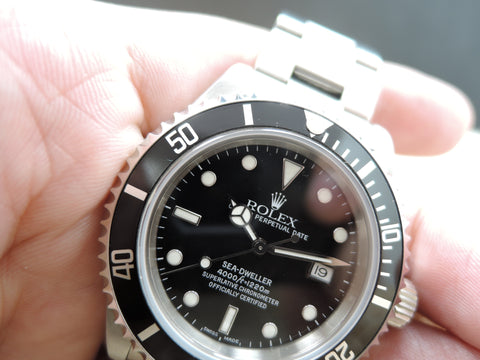 1999 Rolex SEA DWELLER 16600 with Paper and RSC Paper