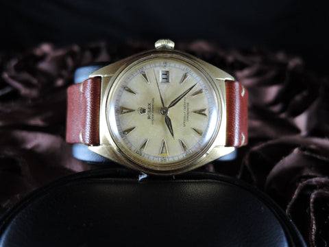 1949 Rolex OYSTER PERPETUAL 5030 18K YG BIG Bubbleback (36mm)