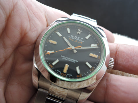 2007 Rolex MILGAUSS 116400 Green Glass Full Set