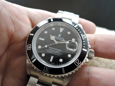 2004 Rolex SUBMARINER 16610 (no hole case) with Full Set