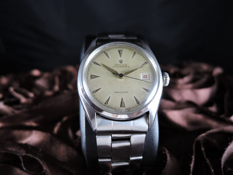 1950 Rolex OYSTER DATE 6094 Original Creamy Dial with Dauphine Hands