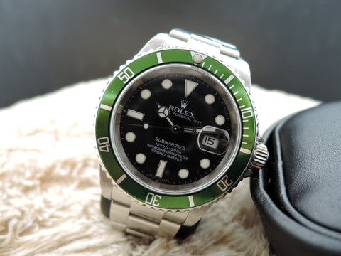 2006 Rolex SUBMARINER 16610LV Green Bezel