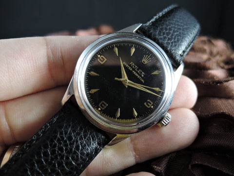 1956 Rolex Oyster Perpetual 6532 with Gilt Explorer Dial and Dauphine Hands
