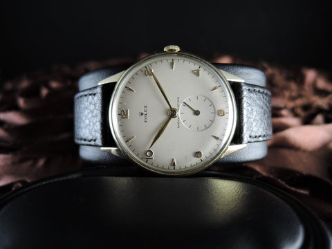 Rolex 4357 with 18K Gold Bezel and Crown and Small Second Hand