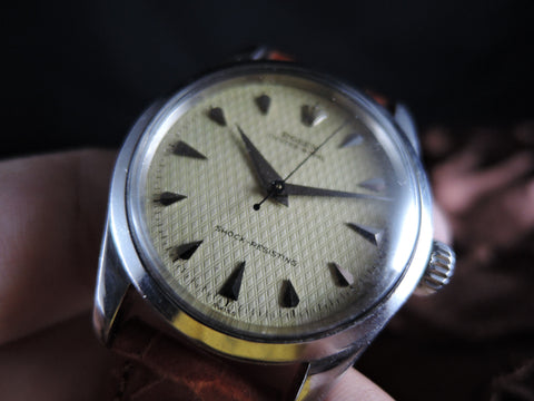 1963 Rolex OYSTER PERPETUAL 6244 Original Yellowish Big Waffle Dial